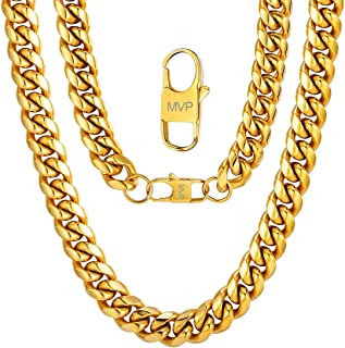 Men Chunky Miami Cuban Chain Necklace, Custom Available, 6/9/14mm Width, 18