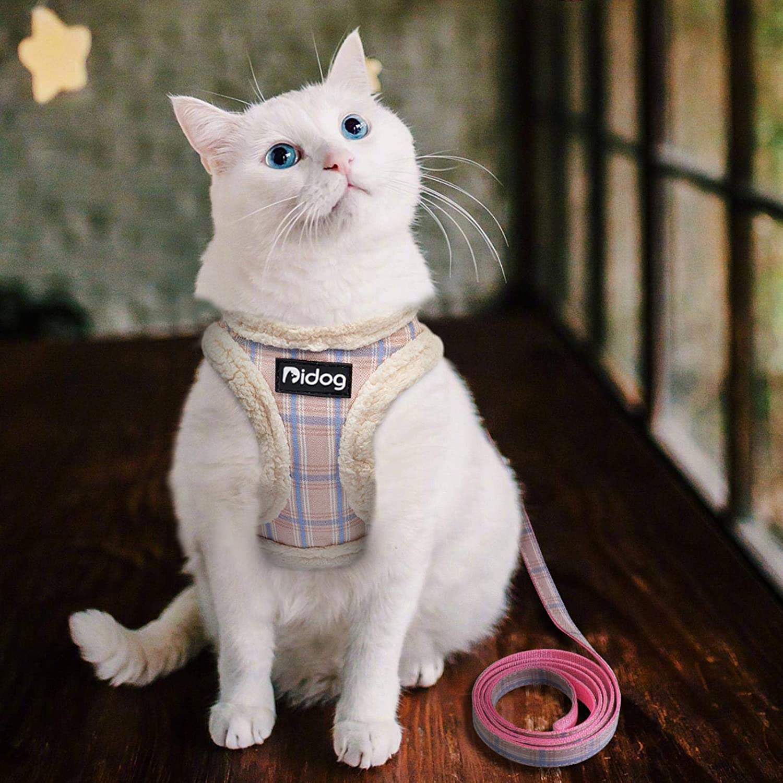 XATAKJJ Soft Dog Cat Harness Weste No Pull Padded Pet Chihuahua Welpengeschirr Leinen Set Einstellbar f/ür kleine mittelgro/ße Hunde Franz/ösische Bulldogge