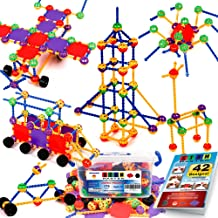 STEM Master 176 Piece STEM Learning Educational Construction Building Toy Gift Set for Boys and Girls Ages 3 4 5 6 7 8 9 1...