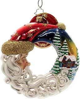 Christopher Radko Santa's Silent Night Wreath Christmas Ornament