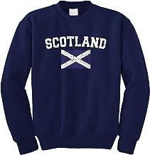 Cybertela Faded Distressed Scotland Flag Crewneck Sweatshirt