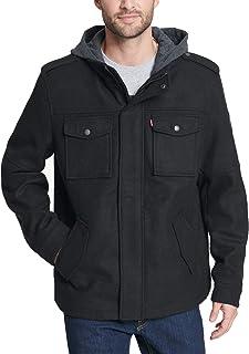 Levi's Men's Wool Blend Hooded Military Jacket