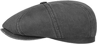 Stetson Hatteras Old Cotton Schildmütze Damen/Herren | Oilskinmütze Balloncap Newsboy Cap mit Schirm, Schirm Frühling-Sommer Herbst-Winter