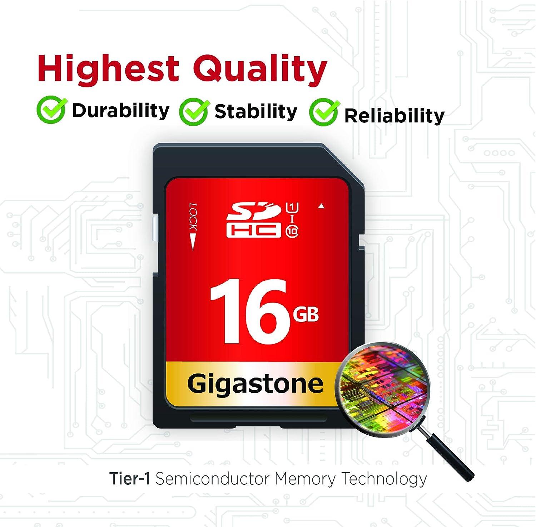Gigastone Tarjeta SD de 4GB Tarjeta de memoria SDHC Clase 4 para Foto Video M/úsica Archivo de voz DSLR C/ámara DSC Videoc/ámara Grabadora Reproducci/ón PC Mac POS