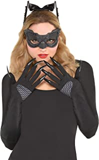 Batman: The Dark Knight Rises Catwoman Costume Accessory Supplies for Adults, Include a Mask and Gloves