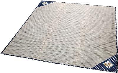 大島屋 い草 ラグ まねきねこ コンパクト 2.7帖 ブルー 約180×230cm