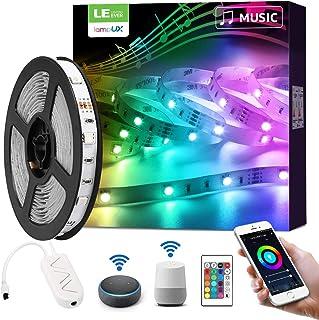 LE 5 m ledstrip, muziek, wifi, smart, 16 miljoen kleuren, 5050 RGB 150 leds, lichtband met WLAN, smartphone-app, verbonden...