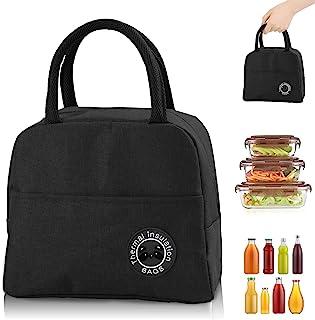 Sac Isotherme Repas, Sac de Transport Repas Lunch Bag Portable Sac Lunch Box Bag à Déjeuner Waterproof, pour Bureau l'écol...