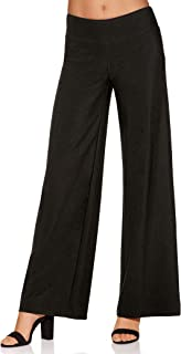 Women's Wrinkle-Resistant Solid Color Knit Palazzo Pant