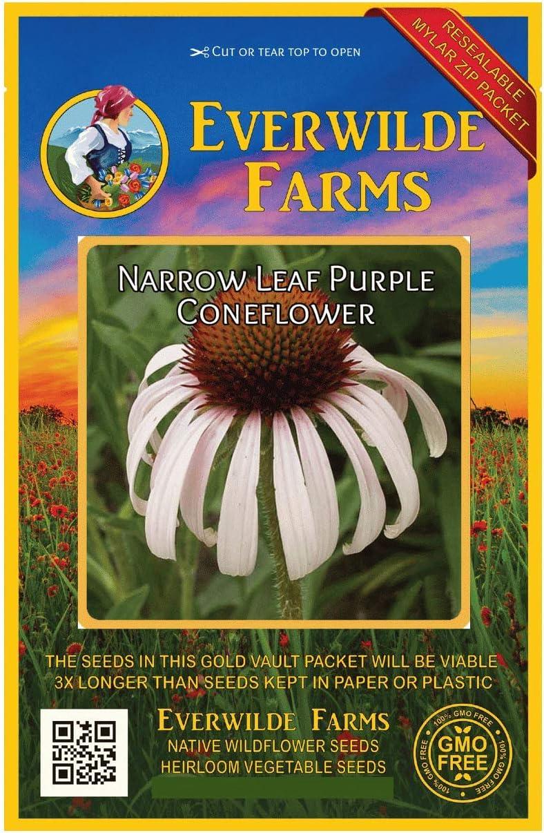 Everwilde Farms Sale [Alternative dealer] price - 200 Narrow-Leaf Purple Native Wildf Coneflower