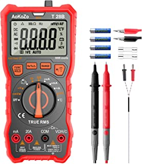 Digital Multimeter Messgerät,AoKoZo 6000 Counts Auto Range Multimeter True RMS