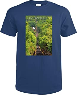 Chattanooga, Tennessee - Incline Railway on Lookout Mountain 75852 (Navy Blue T-Shirt Large)