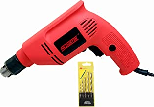 Cheston 10mm Powerful Drill Machine Screwdriver Reverse Forward Rotation with Variable Speed for Wall, Metal, Wood Drilling (5 Wall BITS Included)