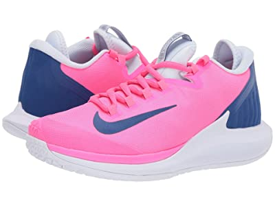 Nike Court Air Zoom Zero HC (Pink Blast/Indigo Force/Half Blue/White) Women