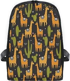 ZZXXB Llama Cactus Succulent Backpack Kids Toddler Child Preschool Kindergarten Waterproof Book Bags Travel Daypack for Boys and Girls