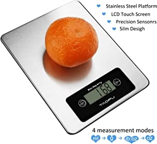 Digital Kitchen Scale,11lb/5kg Stainless Food Scale Tare Function with LCD Display For cooking (Silver)