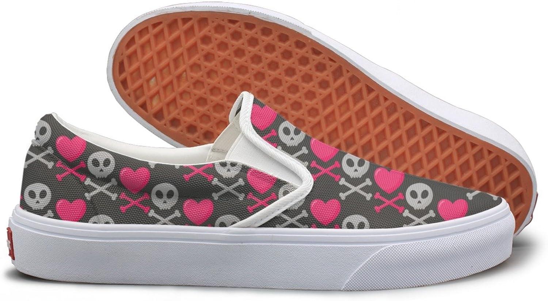Skull Heart Crossed Bones Canvas shoes Women Casual
