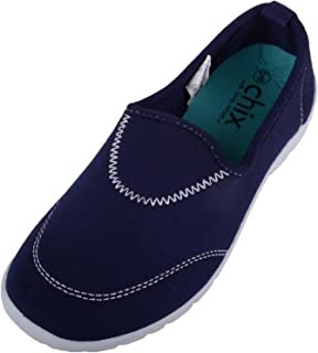 ABSOLUTE FOOTWEAR Womens Casual Canvas Slip On Trainers/Pumps/Plimsols/Shoes