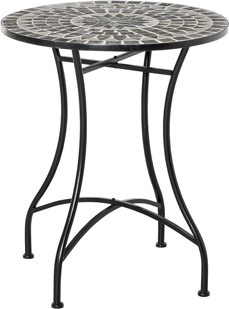 Outsunny ,  tavolino per esterno , in metallo e ceramica IT84B-4990631