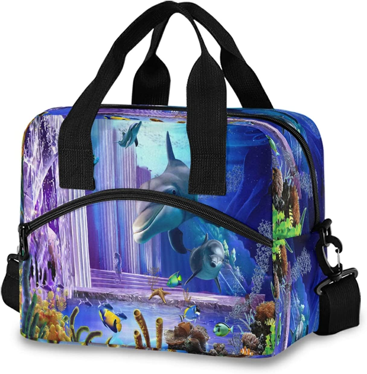 KEEPREAL 3D Dolphin Print Insulated Stra Mail order cheap Shoulder Bag with Ranking TOP14 Lunch