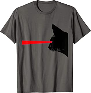 Funny Black Cat with Laser Eye Funny Cat Gift T-Shirt
