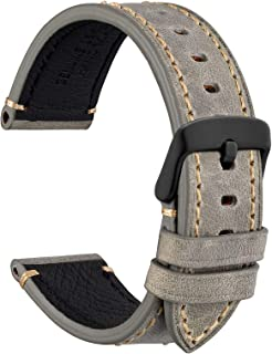 Sponsored Ad - WOCCI Watch Bands 18mm 20mm 22mm 24mm, Germany Crazy Horse Cowhide Leather Watch Strap with Stainless Steel...