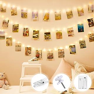 Łańcuch świetlny z klamerkami do zdjęć, Litogo na zdjęcia, łańcuch świetlny, obrazy 10 m, 100 diod LED, klipsy na zdjęcia,...