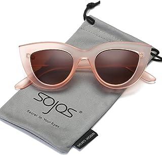 SOJOS Retro Vintage Cateye Sunglasses for Women Plastic...