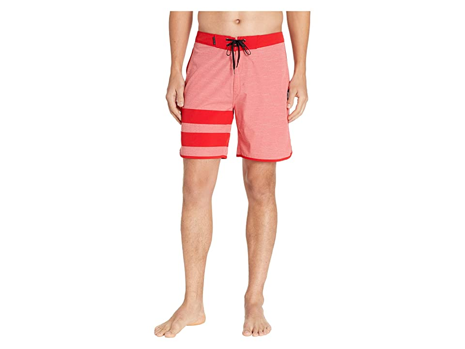 Hurley Phantom Block Party Slub 18 Boardshorts (University Red) Men