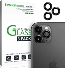 amFilm Glass Screen Protector for iPhone 11, 11 Pro and 11 Pro Max Back Camera Protector (3 Pack)