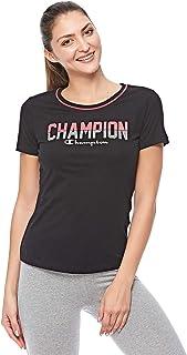 Champion Crewneck T-Shirt For Women - Black L