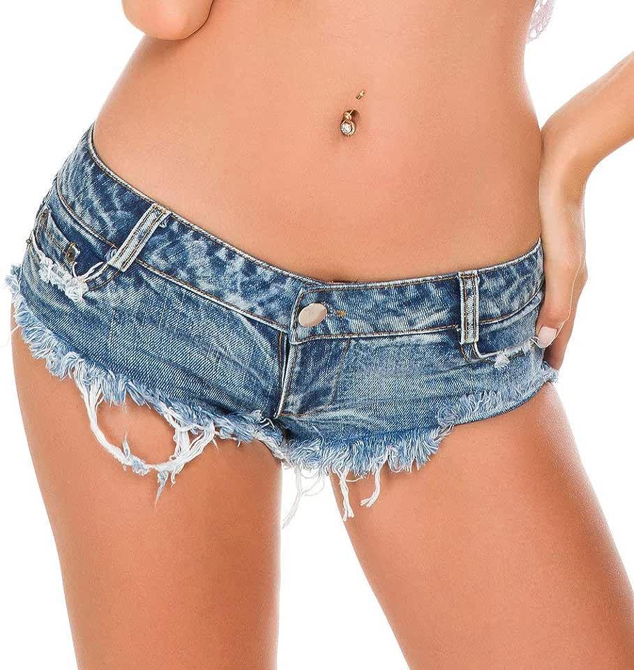 Everyday Bras Women's Summer Denim Shorts Fashion Low Waist Hole Shorts