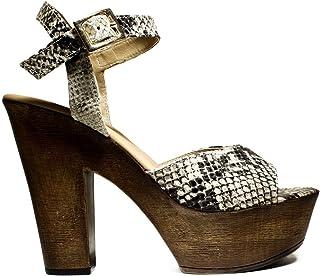 2a30fbf7c9 DAVID HARON Z220A Python Zapatos de Las Sandalias del talón, tacón Alto,  Nueva COLECCIÓN