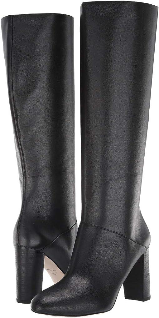 Black Leather/Semi Shine Stack