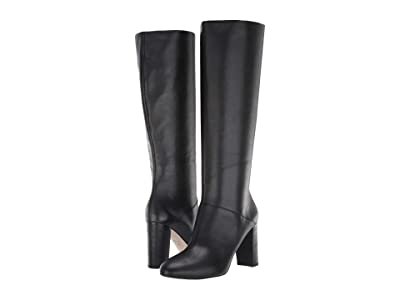 Cole Haan Glenda Boot 90 mm (Black Leather/Semi Shine Stack) Women