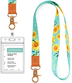 Lanyard with id Holder Cute lanyards for Women Lanyard for Keys id Badge Holder (Sunflower)