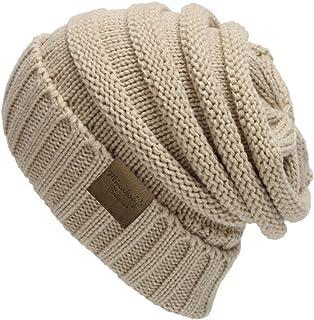 MINAKOLIFE Trendy Warm Oversized Chunky Soft Oversized Cable Knit Slouchy Beanie