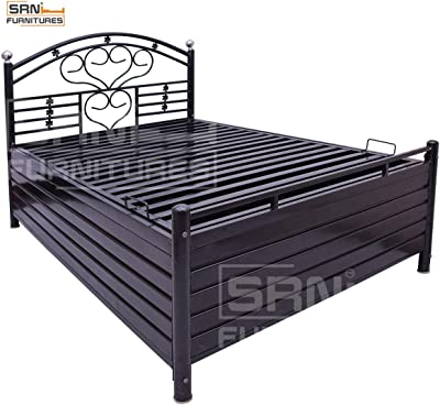 SRN Brand Hydraulic Storage Coating Metal Bed (Black ) 4 * 6