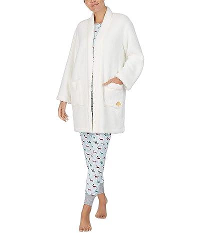 Kate Spade New York Faux-Sherpa Fleece Robe (Off-White) Women