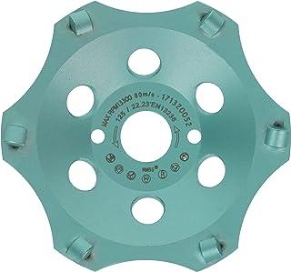 PRODIAMANT Profi PCD diamantslipkopp hjul 125 mm 5 tum x 22,2 mm 6 segment diamantsliphuvud PDX829,793 125 mm lämplig vink...