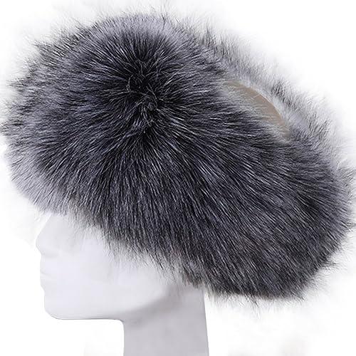 Vandot Faux Fur Headband Women Ladies Girls Winter Warm Luxury Ski Head Ear  Warmer Earmuff Ski 1187af0078a
