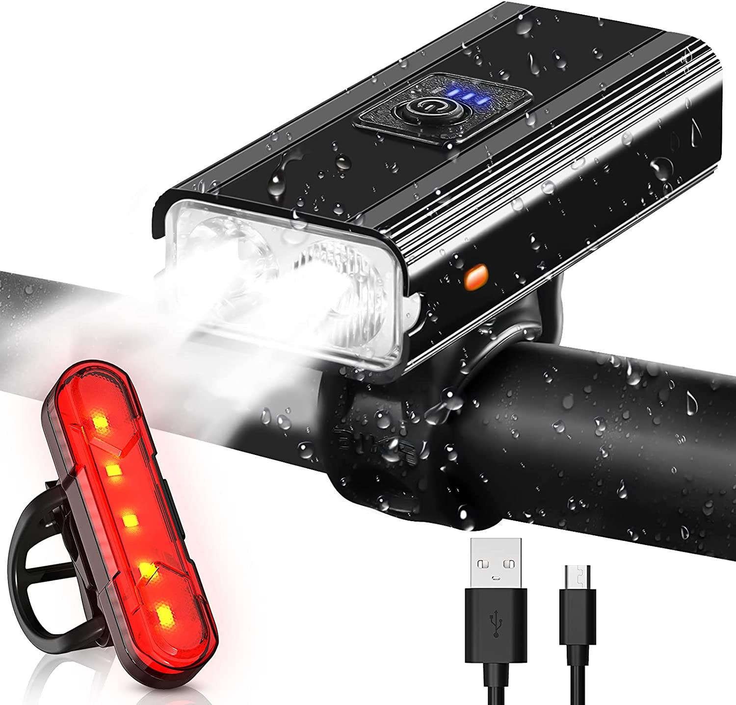 Bike online shopping Lights USB Rechargeable Super and Bright Super sale period limited Re Front Back