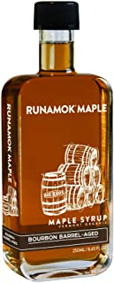 Runamok Maple Bourbon Barrel Aged Maple Syrup - Authentic & Real Vermont Syrup | Natural Sweetener | Great for Cocktails, ...