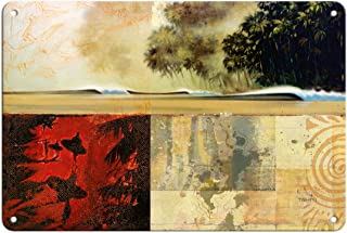 Pacifica Island Art - Surfers Journal Entry 41 - Tropical Waves - Original Collage Art by Wade Koniakowsky - Fine Art Prin...