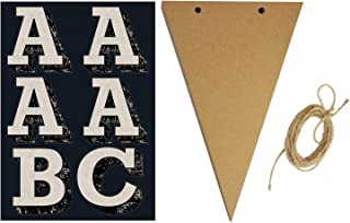 Cosco Chipboard Pennant Banner Kit, 18 Flags, Adhesive Letters, 8 feet Twine (098425)