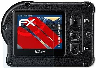 Ultra Transparente FX L/ámina Protectora 3X atFoliX L/ámina Protectora de Pantalla Compatible con Nikon Coolpix AW120 Pel/ícula Protectora