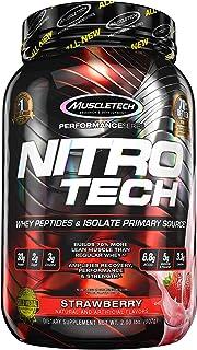 Muscletech Suplemento para Deportistas Nitro Tech Performance Series, Sabor de Fresa - 907 gr