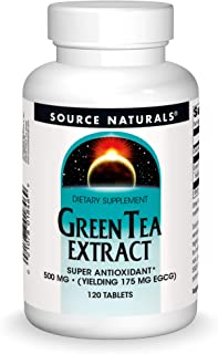 Source Naturals Green Tea Extract 500 mg Super Antioxidant - 120 Tablets