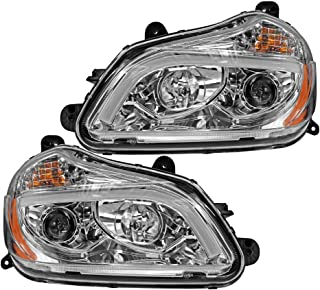 Epic Lighting OE Fitment Replacement Headlights Assemblies for 2015 Kenworth T-680 Left Driver & Right Passenger Sides Pair