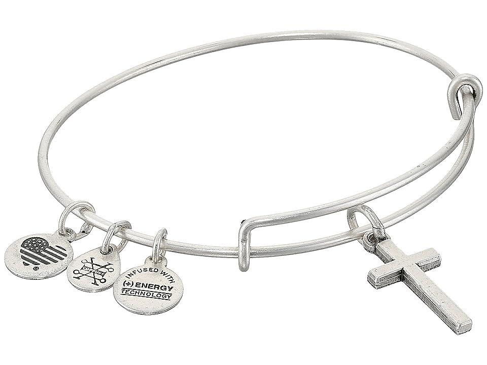 Alex and Ani Cross II Bangle (Rafaelian Silver) Bracelet